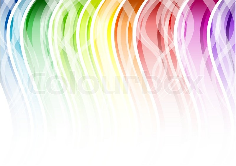 Rainbow Color Background With White Stock Vector Colourbox