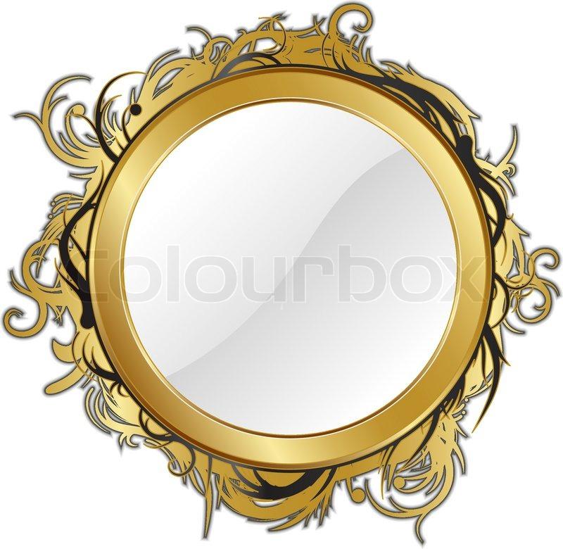 guld spejl Guld spejl isoleret til enhver baggrund | stock vektor | Colourbox guld spejl