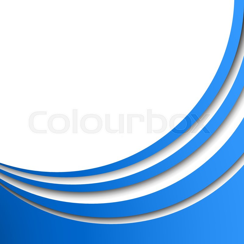 Abstract blue circular stripes vector background with white copy space.  Title page or cover stylish template with 3D effect stripes, vector 53d24afbd459