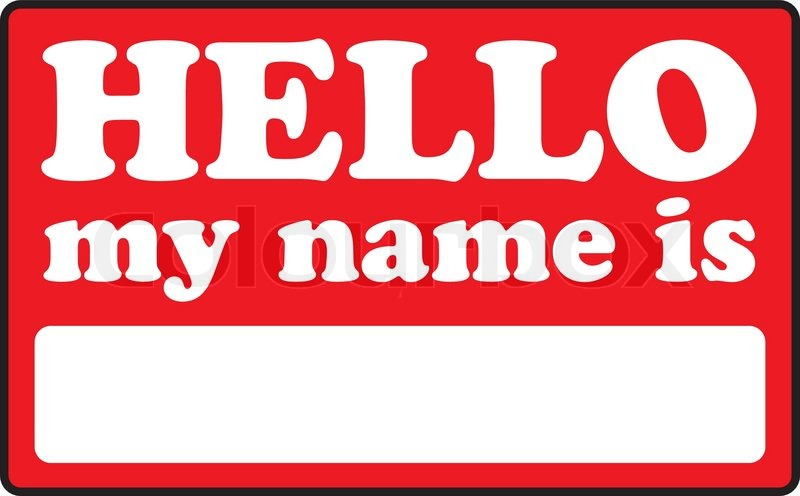 Blank Name Tags That Say Hello My Name Is Vector Colourbox