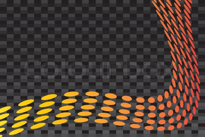 ... layout with curved dots over a carbon fiber background texture, vector