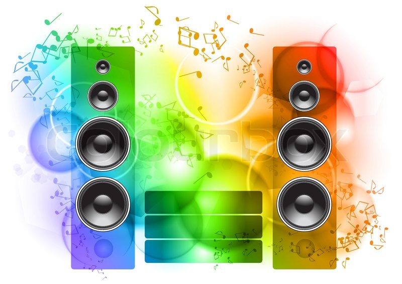 Music Abstract Background With Speakers Stock Vector