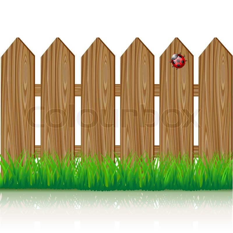 Wooden fence stock vector colourbox