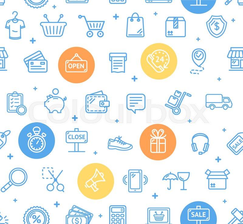 E-commerce, rabatt, preis | Vektorgrafik | Colourbox