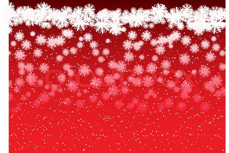 red christmas background with falling snowflakes stock vector colourbox - Red Christmas Background