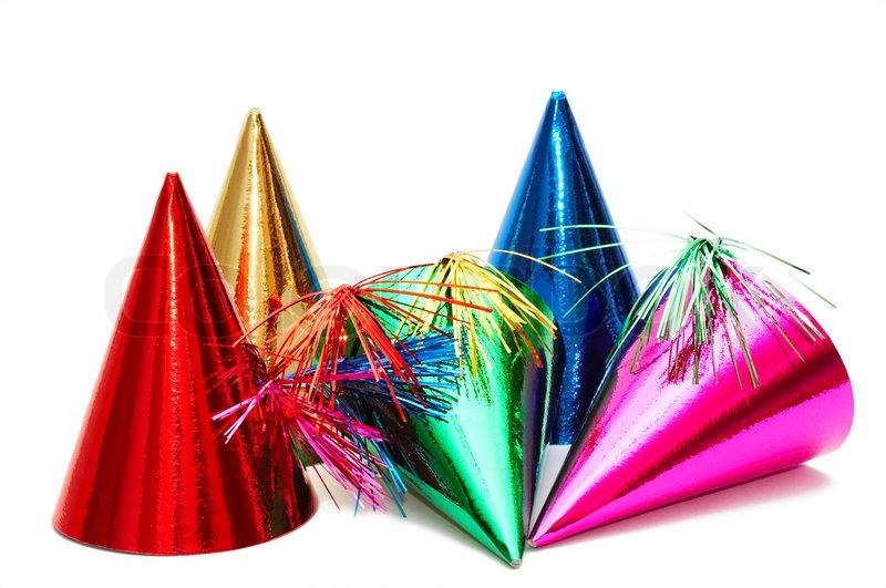 Birthday Party Hats Stock Photo Colourbox