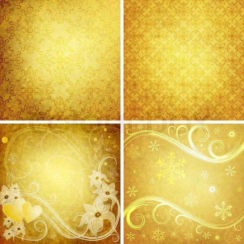 set old yellow grunge paper for design