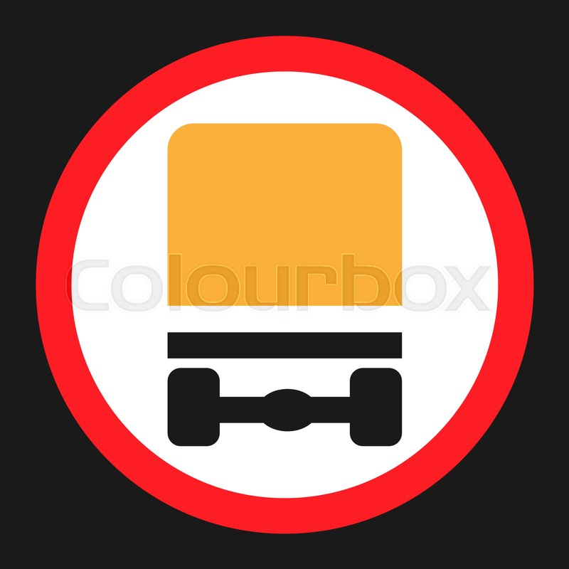 Dangerous Goods Transport Prohibition Sign Flat Icon Traffic And