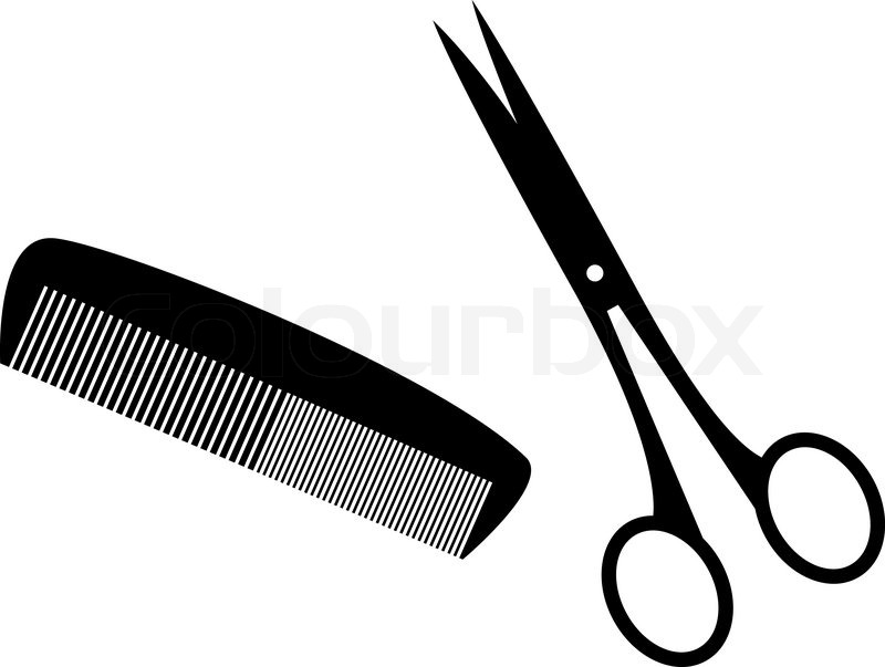 Black silhouettes of hairstyle tools | Stock Vector | Colourbox