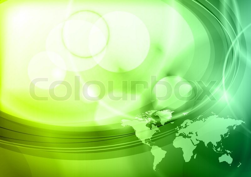 Abstract green frame with map of the world stock vector colourbox sciox Gallery