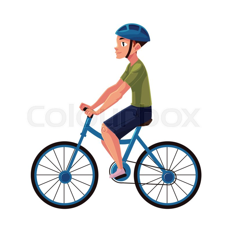 cb5913e8239c Bicycle, cycle, bike rider, cyclist ... | Stock vector | Colourbox