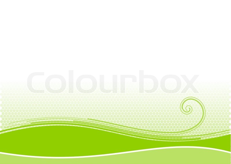 Green background with swirl shape | Stock Vector | Colourbox Green And White Swirl Backgrounds