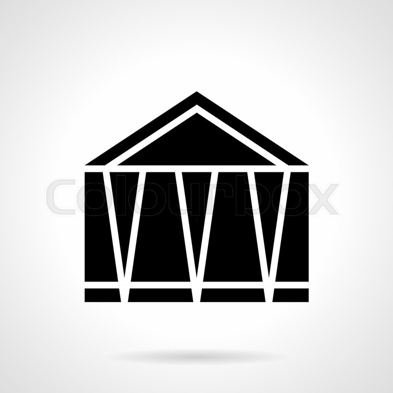 Monochrome Abstract Symbol Of Fair Marquee Structures For