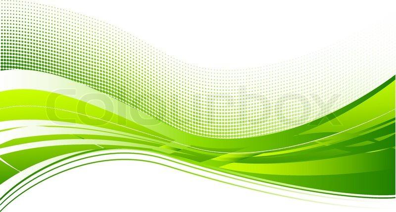 Grune Bohnen Farbe : Grüne Welle Hintergrund auf weiß  Vektorgrafik  Colourbox