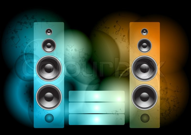 speakers background. speakers background a