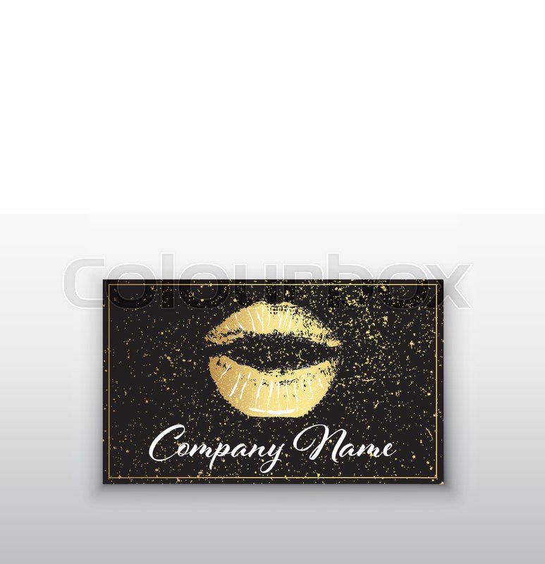 Makeup Artist Business Card Business Cards Template With Pink Lips - Makeup artist business card template