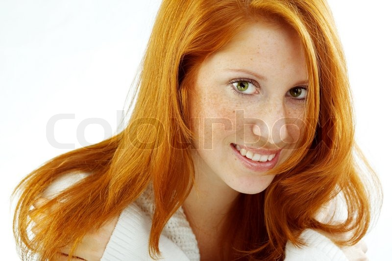 Photo of beautiful woman with red hair  | Stock image
