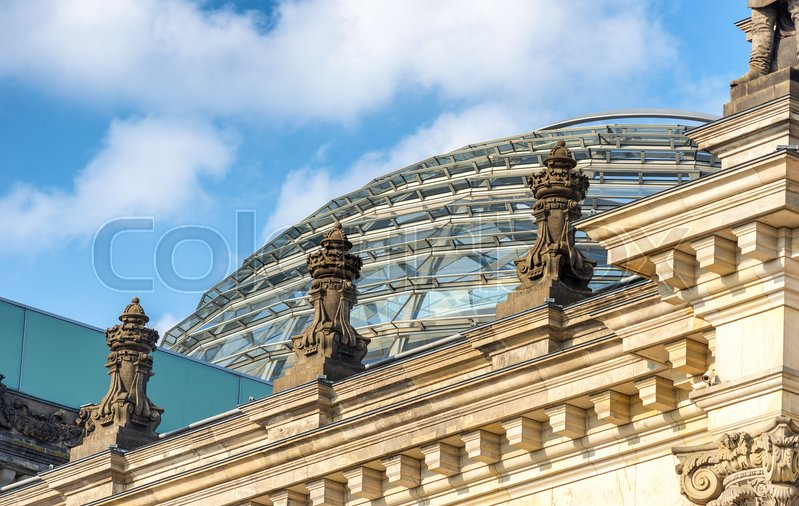 Stock image of 'Top of Bundestag, Berlin.'
