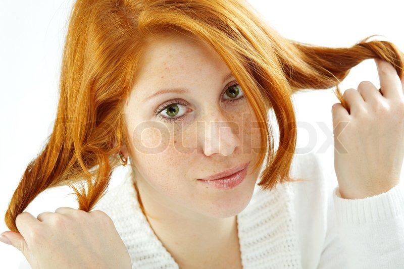 rødt hår teen pige Vejle