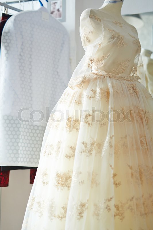 Antique beautiful ball gown made in organza fabric with gold ...