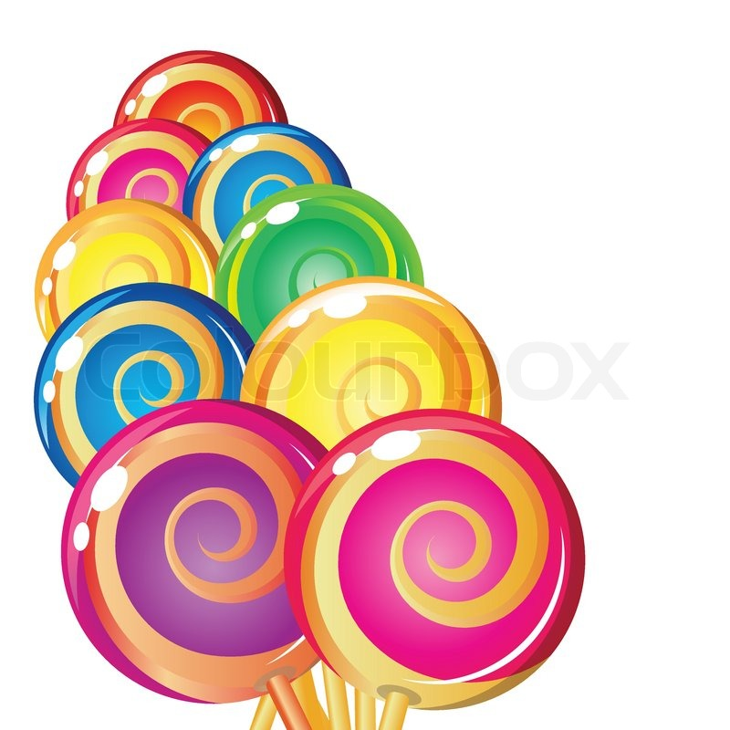 Border Of Lollipop Stock Vector Colourbox