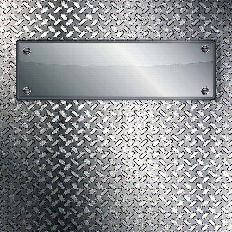 Fluted metal texture Vector Illustration | Stock Vector ...