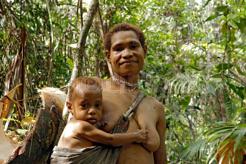 Mother and Child of the Nomadic Forest     | Stock image | Colourbox
