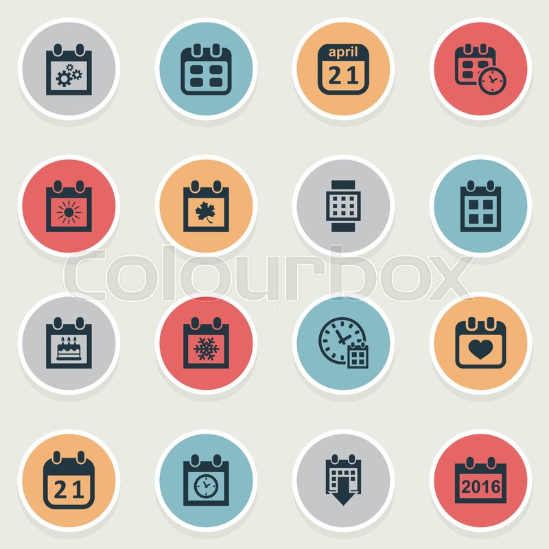 vector illustration set of simple plan icons elements history