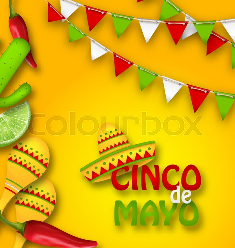 illustration holiday celebration banner for cinco de mayo with chili