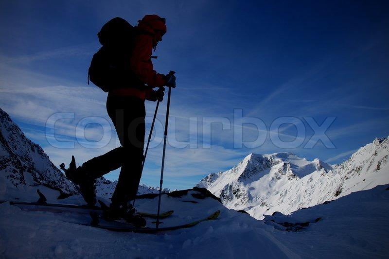 Outdoor winter activity, stock photo