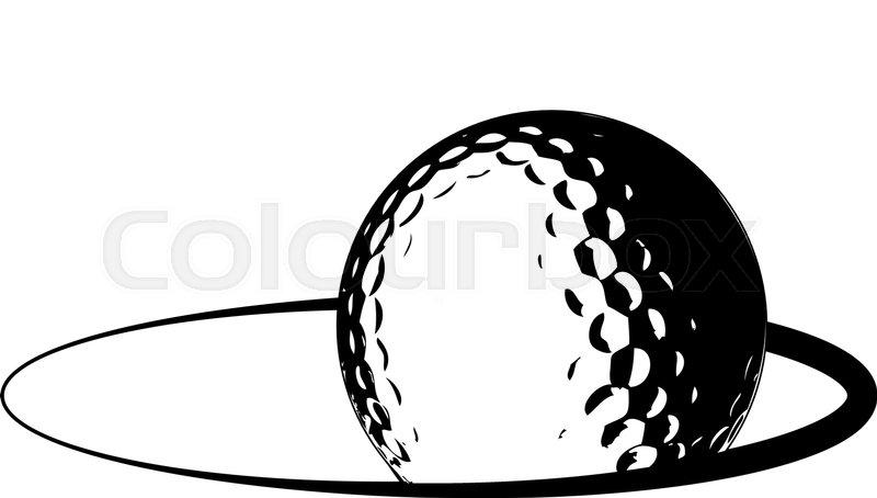 golf ball logo stock vector colourbox