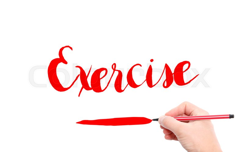 The Word Of Exercise Written By Hand On Stock Image Colourbox