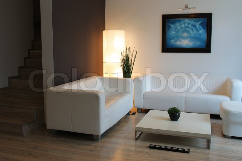 modern and elegant living room stock photo colourbox
