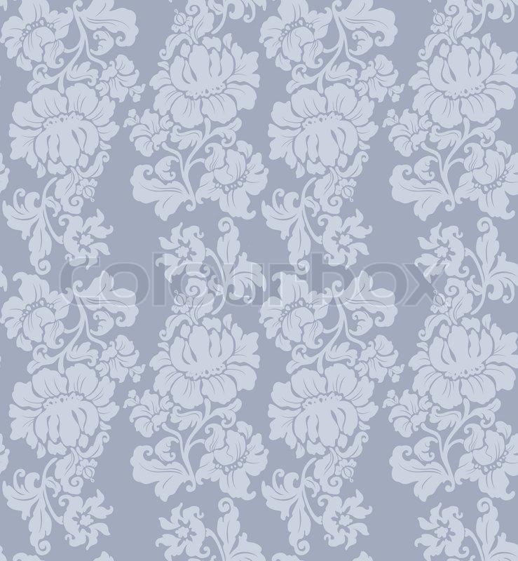 nahtlose muster ornament floral vorh nge vektorgrafik. Black Bedroom Furniture Sets. Home Design Ideas