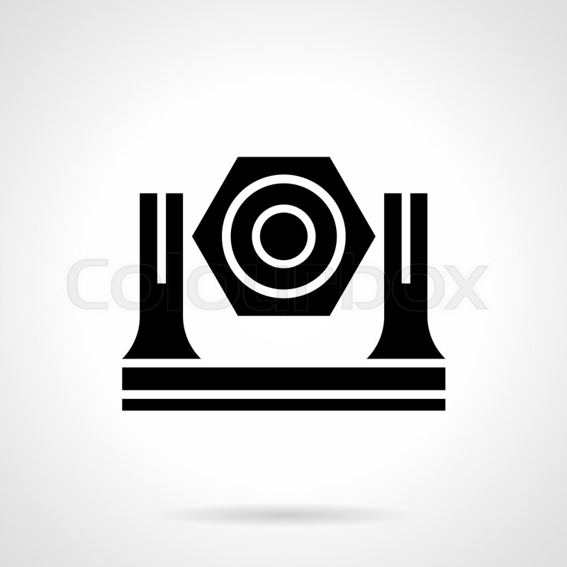 Abstract Monochrome Symbol Of Spotlight Lights Equipment For Stage Concert Show Festival Symbolic Black Glyph Style Vector Icon
