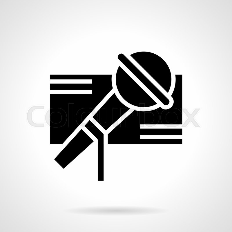 Abstract Monochrome Symbol Of Microphone Music And Singing Festival