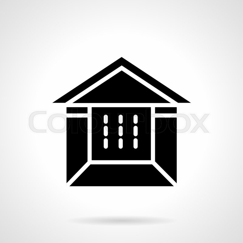 Abstract Monochrome Symbol Of Tent Booth Constructions For Fair