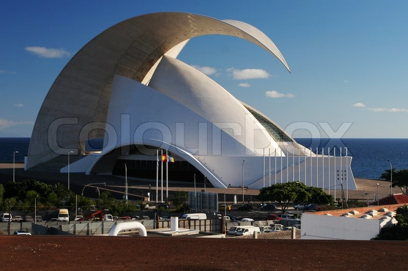 ^ - Moderne rchitektur - Opernhaus auf eneriffa Stock-Foto olourbox