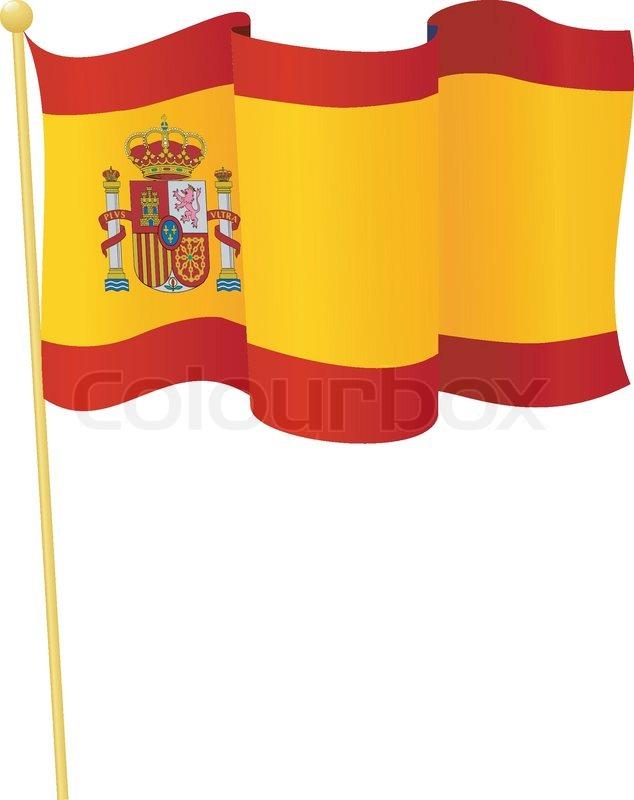 vector illustration of the flag spain stock vector