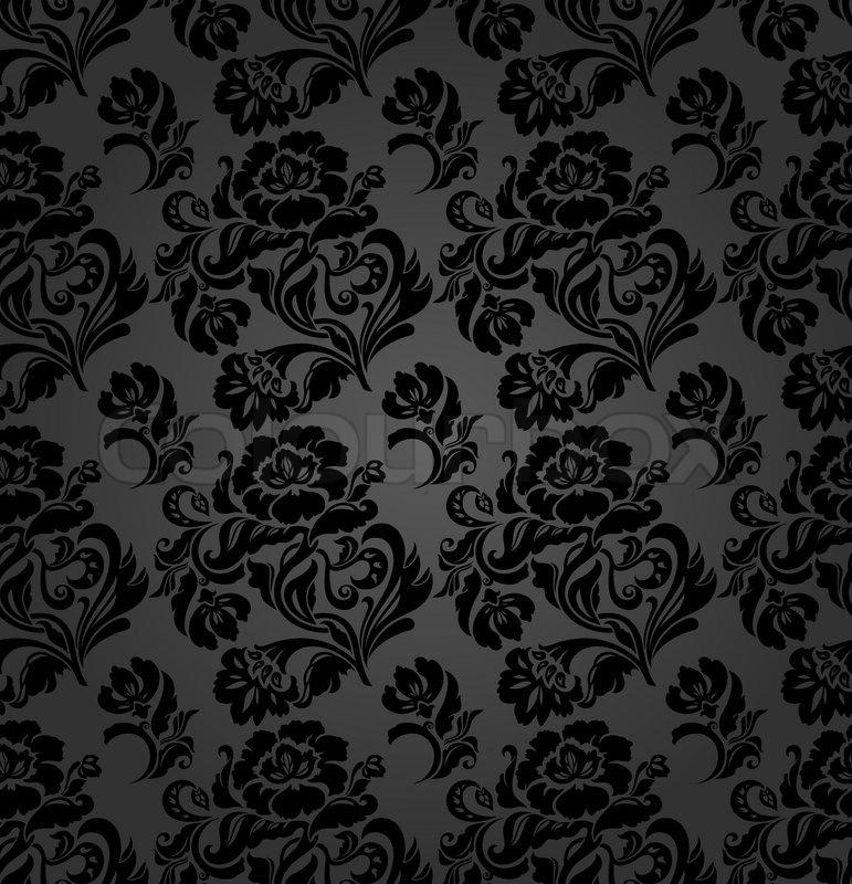nahtlose muster vorh nge floral vector vektorgrafik. Black Bedroom Furniture Sets. Home Design Ideas