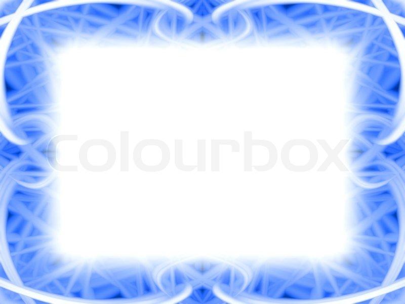 gebogene blauer rahmen mit wei em hintergrund stockfoto. Black Bedroom Furniture Sets. Home Design Ideas