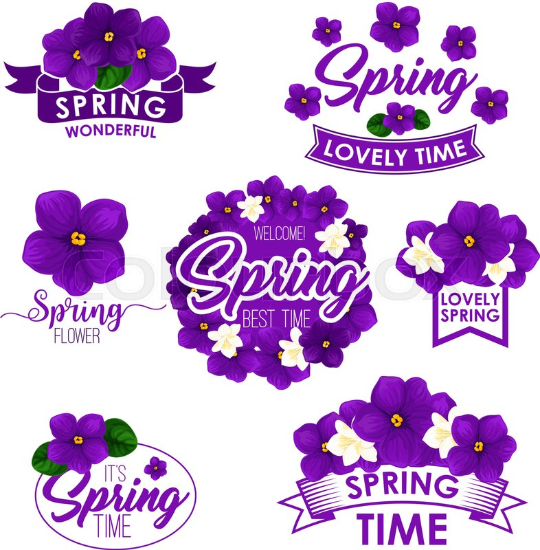 springtime greeting quotes and stock vector colourbox