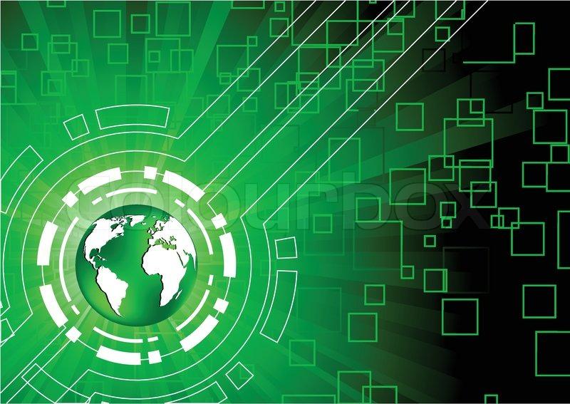 vector green tech background clip art stock vector colourbox