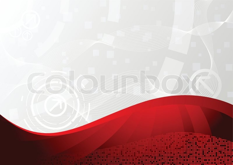 Vector Background In Red Color Stock Vector Colourbox