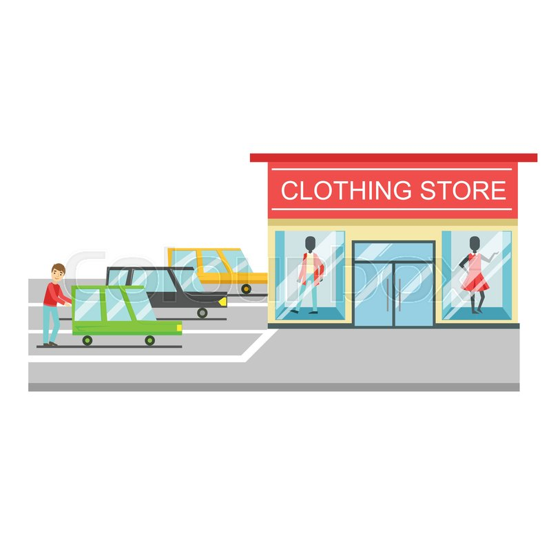 clothing store boutique of women clothes fashion exterior building