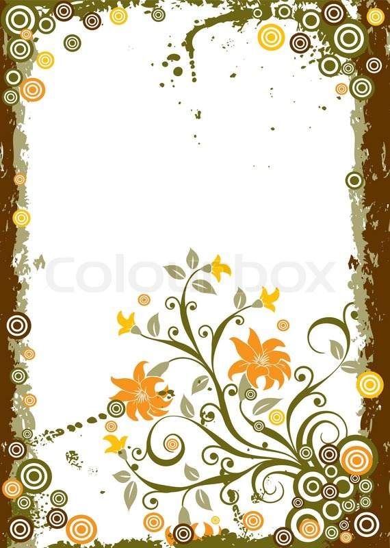 Grunge floral background, vector ... | Stock Vector ...