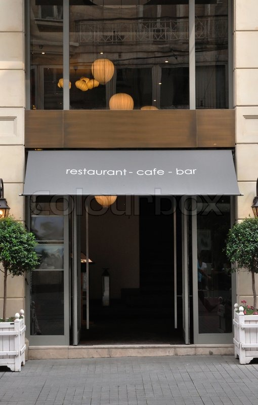 This Photograph Represent A Wonderful Modern Little Restaurant Facade