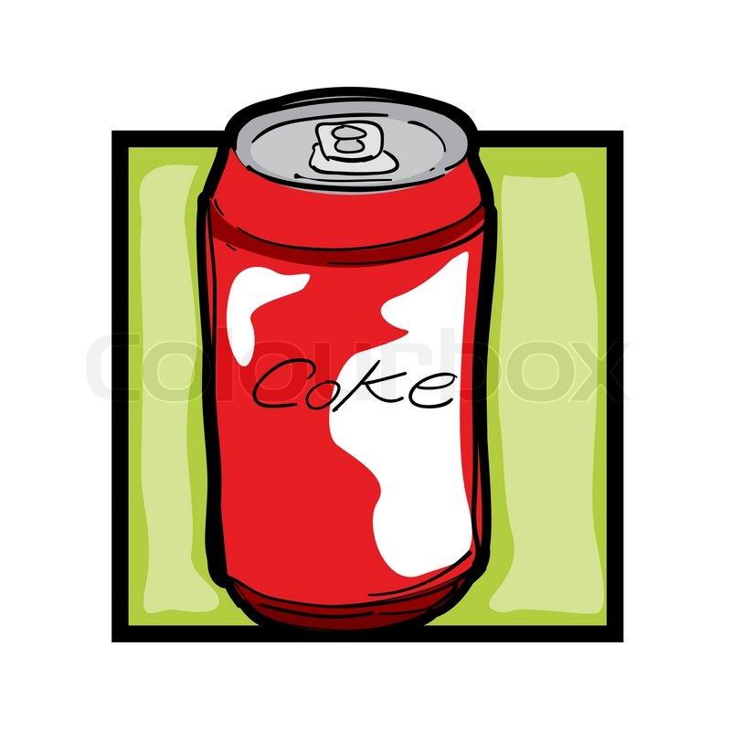 classic clip art graphic icon with soda can stock vector colourbox rh colourbox com soda pop can clipart soda can clipart free