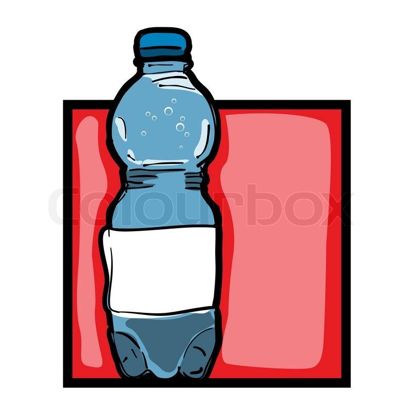 Klassische Clipart-Grafik -Symbol mit Mineralwasserflasche ...
