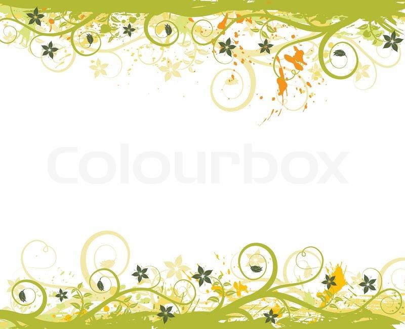Grunge malen Blume Rahmen , Element für Design , Vektor-Illustration ...